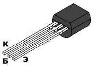 КТ3107В транзистор PNP (200мА 25В) (h21э: 70-140) 0,3W (ТО92)