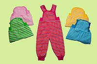 Штанишки для новорожденных на лямках утепленные