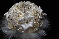 Брошь букет для невесты цвета айвори
