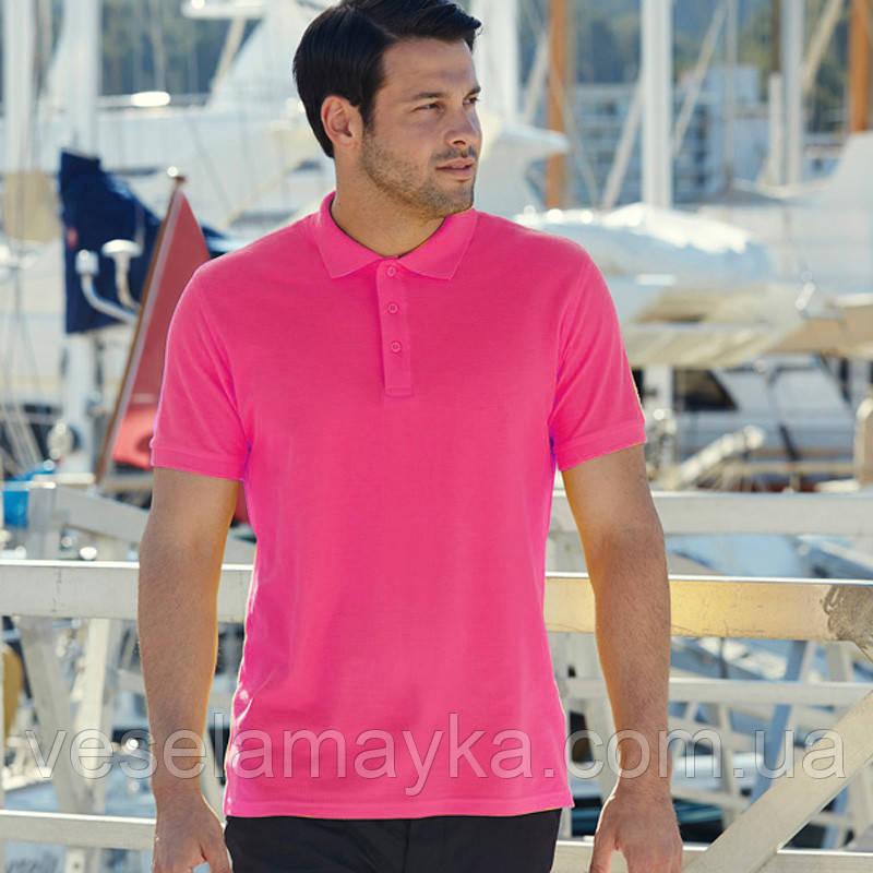 Чоловіча сорочка поло Premium (малинового кольору)