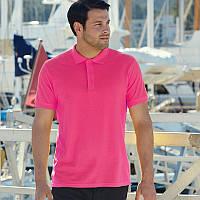 Мужская рубашка поло Premium (малинового цвета)