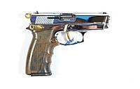 Стартовый пистолет Ekol Aras Compact Shiny Chrome Gold, пистолеты, стартовые, оружие, шумовые
