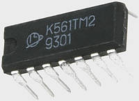 К561ТМ2 два D-тригера с установкой 0 и 1 (аналог CD4013A)