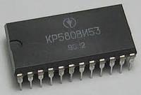 КР580ВИ53 (аналог Intel i8253) трехканальный программируемый таймер. DIP24
