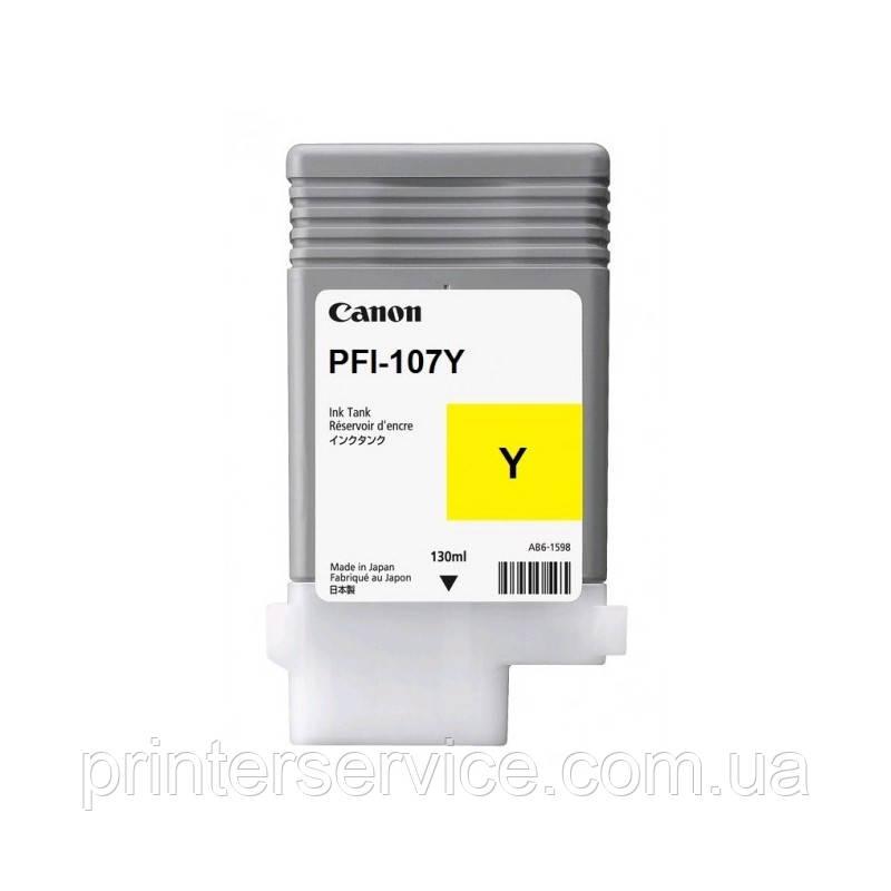 PFI-107 Yellow для iPF670/ 680/ 685/ 770/ 780/ 785, желтый, 130 мл (6708B001)
