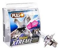 Лампа PULSO H4/P43T 12v60/55w+50% X-treme Vision/plastic box (шт.)