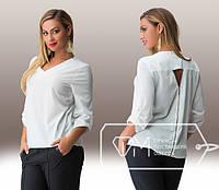 Женская рубашка большого размера в расцветках Poly b-151592