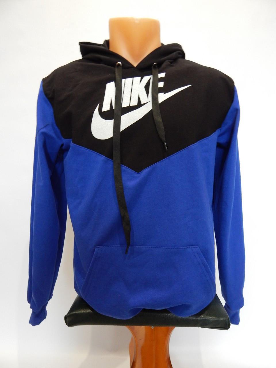 Толстовка детская весна-осень Nike реплика черный с электриком р. 44-46,рост 146-152