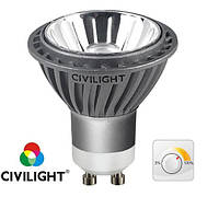 LED лампа MR16 (GU10) диммирумая 7W(300Lm) (2580K) DGU10 WP01T7 Civilight (Сивилайт)