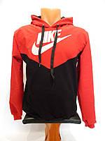 Толстовка детская весна-осень Nike реплика красный с черным р. 42-44, фото 1