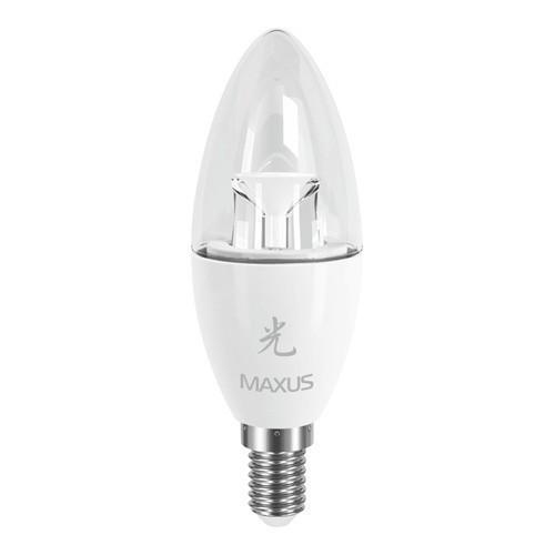 LED лампа Maxus E14 6W (500Lm) 3000K 220V AP C37 CL-C