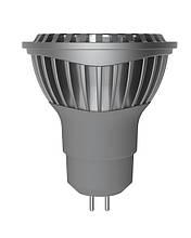 LED лампа Electrum MR16 GU5,3 6W(430Lm) 4000К AL LR-C 220V алюмін. профілю. корп.