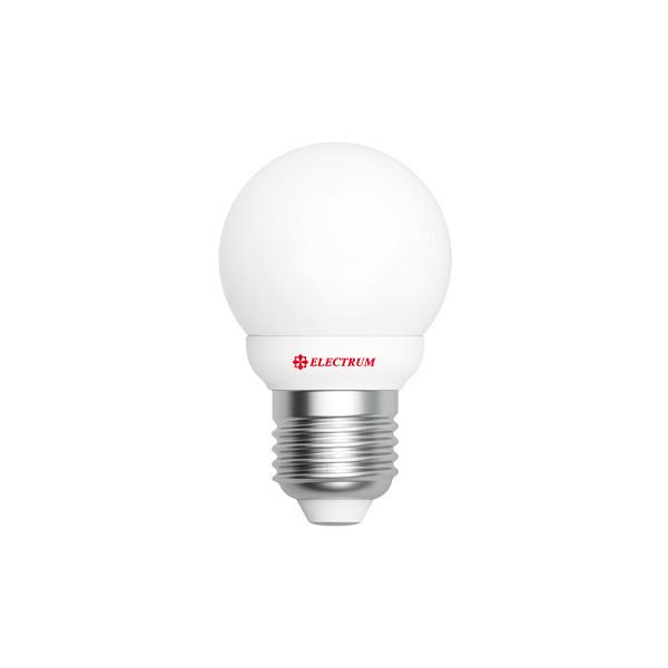 LED лампа E27 4W(350Lm) 2700K Electrum шар PA LB-5 алюпласт. корп.