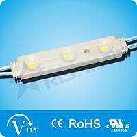 Светодиодный модуль (67Lm), White 3-LED SMD 5630,  DC 12V,