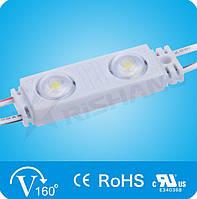 Светодиодный модуль Rishang с линзой (70Lm) White 2-LED SMD 2835,  DC 12V, IP68