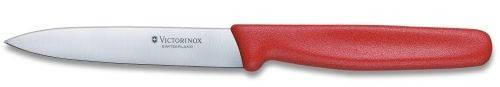 Долговечный кухонный нож для нарезки фруктов и овощей Victorinox 50701 красный