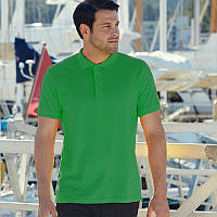 Мужская рубашка поло Premium (зеленого цвета)