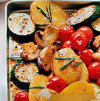 Овощи запеченные с грибами