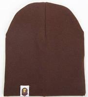 Стильная шапочка  Bape Kids цвет коричневый
