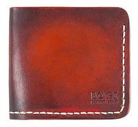 Мужской кошелёк Bogz из итальянской кожи Mini A4 Super Tan - Beige