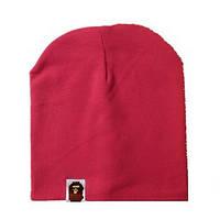 Стильная шапочка  Bape Kids цвет темно красный