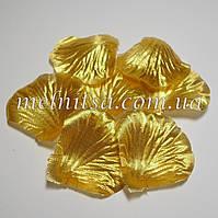 Лепестки розы, золото, 20шт