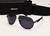Мужские солнцезащитные очки Prada SPR 29 N цвет черный с серым