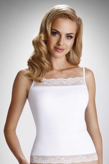 Женская бельевая майка белого цвета, модель Charlotte  Eldar.