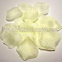 Лепестки розы, кремовые, 20шт