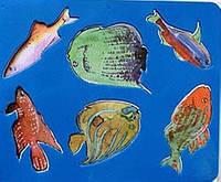 Трафарет фигурный Аквариумные рыбки, 10С 531-08
