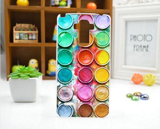Cиликоновый чехол бампер с рисунком для LG G4 stylus H630 Краски