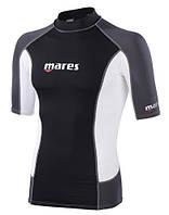 Мужская лайкровая футболка с уф защитой Mares Rash Guard (Trilastic), короткий рукав
