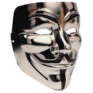 Маска Анонимуса - Маска Гая Фокса - Маска Вендета - Маска V - Срібна