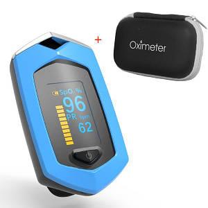 Пульсоксиметр аккумуляторный ProZone oSport Li-Ion (Blue)+ Чехол-футляр с отделом для батареек