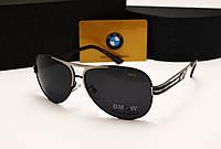 Мужские солнцезащитные очки BMW 603 цвет черный с серебром, фото 1