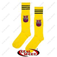 Гетры футбольные детские клубные ФК Барселона желтые. Размер S (32-36)