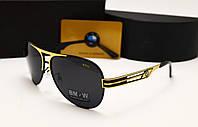 Мужские солнцезащитные очки BMW 603 цвет черный с золотом