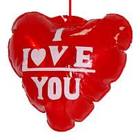 Надувной шарик сердце, подходит для декора