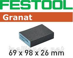 Губка шлифовальная 69 мм x 98 мм x 26 мм Р36 GR/6 Granat Festool 201080