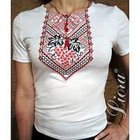 Вышитая футболка с еврейскими символами, женская