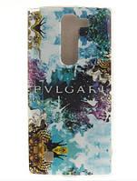 Cиликоновый чехол бампер с рисунком для LG G4c Magna Bulgari