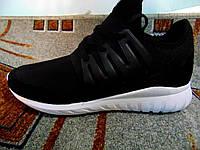 Мужские повседневные кроссовки Adidas Tubular Runner черные, фото 1