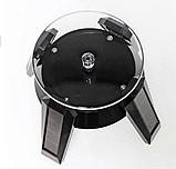 Демонстрационный вращающийся столик на солнечной батарее черный, фото 4