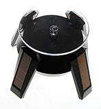 Демонстрационный вращающийся столик на солнечной батарее черный, фото 6