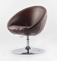 Офисное кресло Lux Sancafe коричневое эко кожа