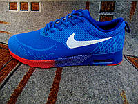 Мужские повседневные кроссовки NIKE Air Max Thea синие с красным