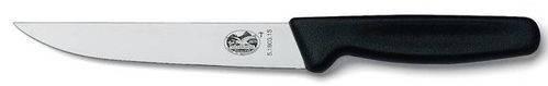 Швейцарский качественный кухонный нож для нарезки мяса Victorinox 51803.15B черный