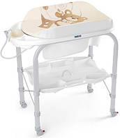 Пеленальный столик с ванночкой   CAM Cambio Бежевый с мишкой