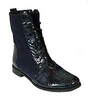 Ботинки высокие на шнуровке женские