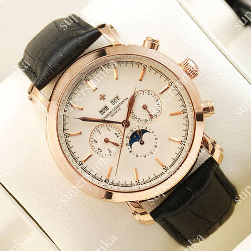 Аналоговые наручные часы Vacheron Constantin Day phase Geneve Gold/White 2426